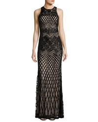 Rachel Gilbert Beaded Halter Column Gown Don't Use