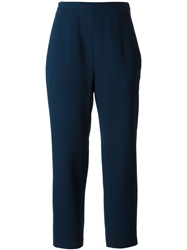 O'2nd High Waist Cropped Trousers Blue