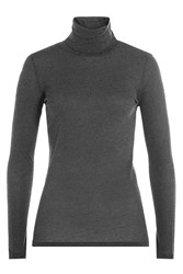 Majestic Cotton Turtleneck Pullover With Cashmere Gr. 2