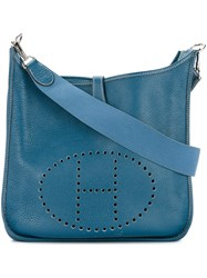 Hermes Vintage Evelyne Shoulder Bag Blue