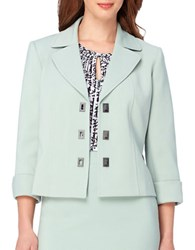 Tahari By Arthur S. Levine Turn Lock Cuff Sleeve Jacket Mint Green