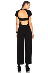 Alexander Wang T By Open Back Jumpsuit In Black