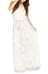 Show Me Your Mumu Women's 'Kendall' Soft V Back A Line Gown Forever Vine