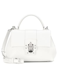 Dolce And Gabbana Lucia Leather Shoulder Bag White