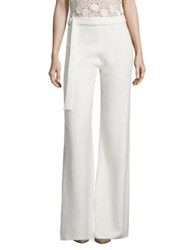 Alexis Lolette Belted Wide Leg Pants White
