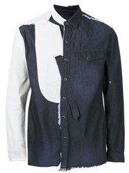 Miharayasuhiro Deconstructed Denim Shirt Black