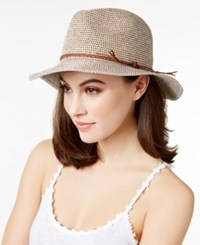 Inc International Concepts Tweed Metallic Panama Hat Only At Macy's Brown