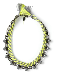 Joomi Lim Beaded Braided Necklace Green