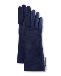 Guanti Giglio Fiorentino Suede Side Zip Gloves Navy