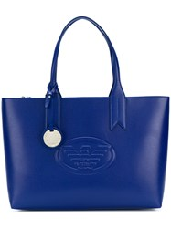 Emporio Armani Front Embossed Logo Bag Blue