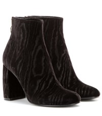 Stella Mccartney Velvet Ankle Boots Black