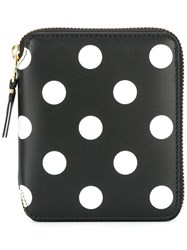 Comme Des Garcons Wallet Polka Dot Zipped Wallet Black
