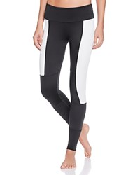 Onzie Peace Color Blocked Leggings Black White