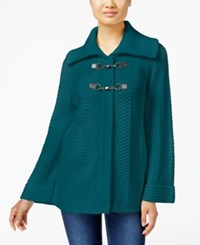 Jm Collection Petites Petite Toggle Front Cardigan Only At Macy's Teal Abyss