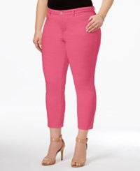 Charter Club Plus Size Bristol Tummy Control Capri Jeans Only At Macy's Glamour Pink