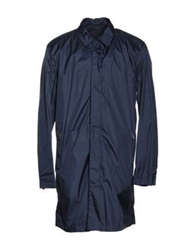 Zegna Sport Full Length Jackets Dark Blue