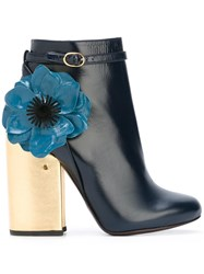 Laurence Dacade Flower Ankle Boots Blue