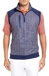 Bobby Jones Men's Xh20 Grid Quarter Zip Stretch Golf Vest
