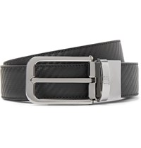 Dunhill 3Cm Black And Dark Brown Reversible Chassis Leather Belt Black