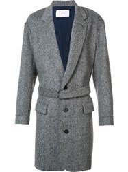 Julien David Belted Coat Grey