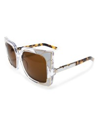 Pared Eyewear Sun And Shade Square Sunglasses White