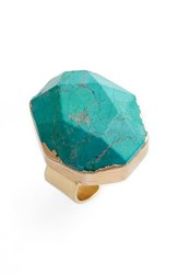 Nordstrom Women's Semiprecious Stone Ring Green Gold