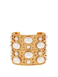Sylvia Toledano Byzance Medium Gold Plated Cuff Pearl