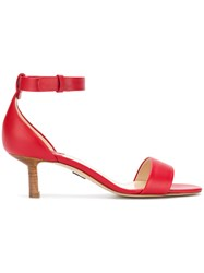 Paul Andrew Buckle Sandals Red