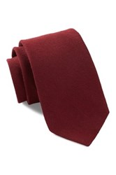 Ben Sherman Fashion Solid Silk Tie Red