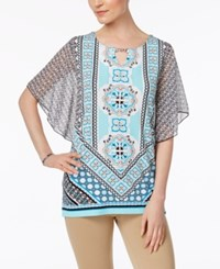 Jm Collection Chiffon Butterfly Sleeve Tunic Only At Macy's Azulejo Tile