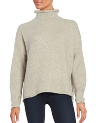 French Connection Mockneck Sweater Dark Oatmeal
