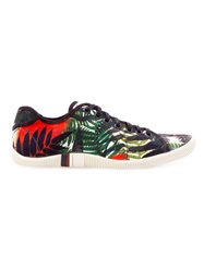 Osklen Foliage Print Sneakers Green
