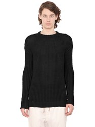 Rick Owens Oversized Cotton Crewneck Sweater