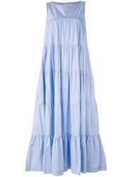 P.A.R.O.S.H. Tiered Maxi Dress Blue