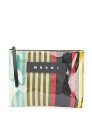 Marni Striped Clutch Bag 60