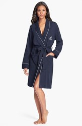 Women's Lauren Ralph Lauren Quilted Collar Robe Windsor Navy