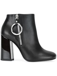 Mcq By Alexander Mcqueen Varnished Heel Ankle Boots Black