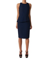 Black Halo Kiara Sleeveless Peplum Sheath Dress