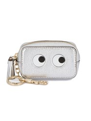Anya Hindmarch Eyes Metallic Coin Purse Women Leather One Size Grey