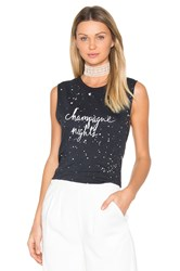 Tyler Jacobs Champagne Nights Cut Off Tank Black