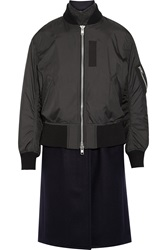 Sacai Luck Shell And Wool Blend Coat