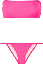 Solid And Striped The Kate Bandeau Bikini Bright Pink