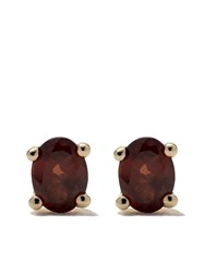 Wouters And Hendrix Gold 18Kt Yellow Gold Garnet Studs