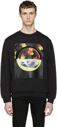 Mcq By Alexander Mcqueen Black Floral Clean Pullover
