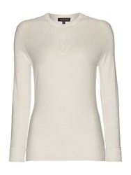 Pied A Terre Selma Lace Crew Ivory
