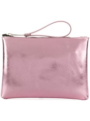 Gum Metallic Textured Clutch Pink And Purple