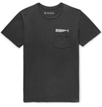 Mollusk Olde Whale Printed Cotton Jersey T Shirt Charcoal