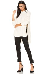 Free People Spin Around Poncho Top White