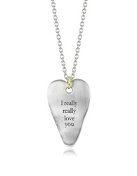 Bjorg Love You Necklace Silver