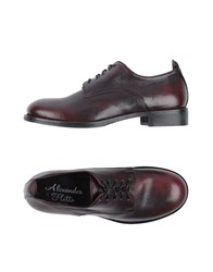 Alexander Hotto Lace Up Shoes Maroon